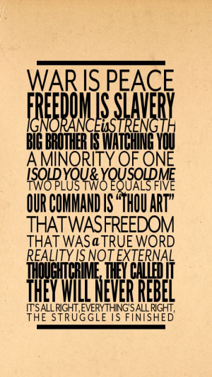 Quotes From 1984 ~ 1984 Quote Wallpaper | Iphone 5/5s Wallpaper ...