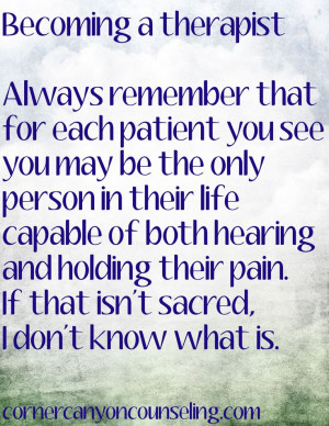 ... both hearing and holding their #pain. That is #sacred. #psychotherapy