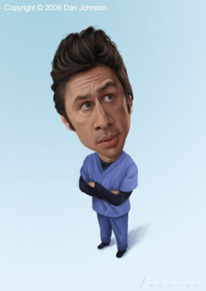 Scrubs JD caricatures