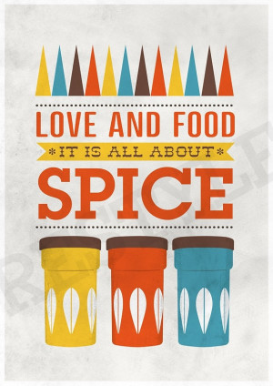 ... inspirational quote - Love & Food A3 poster print. By handz on Etsy