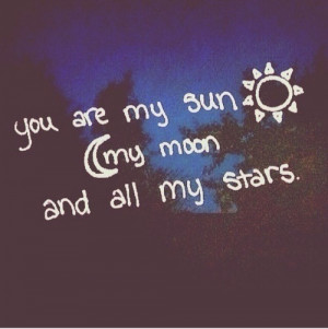 her, him, love, moon, quotes, sky, stars, sun
