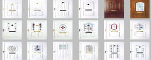 Customise your uPVC door to suit with a wide range of designs