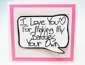 always_on_your_side_note_card._mothers_day_card._pink_note_card._large ...