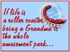 If life is a rollercoaster, being a Grandma is the whole amusement ...