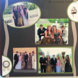 Prom Scrapbook Layout Ideas