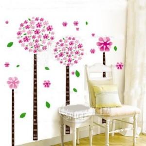 Hunnt® Dandelion Flower Tree Removable Quote Vinyl Nursery Room Wall ...
