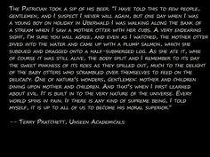 Terry Pratchett on Evil More