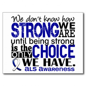 ALS How Strong We Are Postcards