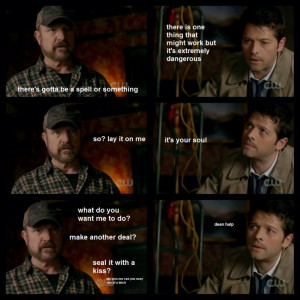 Castiel and Bobby quotes | Supernatural