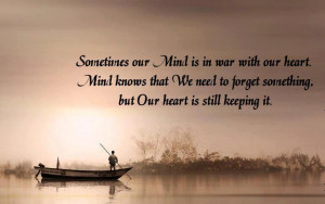 Motivational Quote War between Mind and Heart