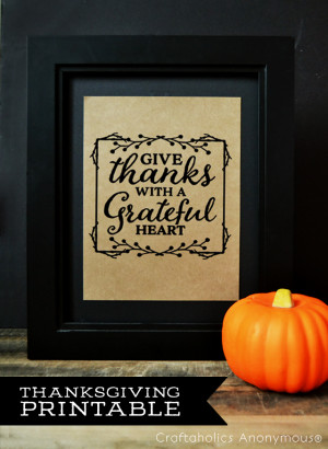 Free Thanksgiving Printable. Can be printed as Thanksgiving Decor or a ...