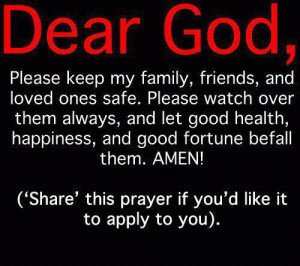 Myspace Graphics > God Quotes > dear God please keep my family Graphic