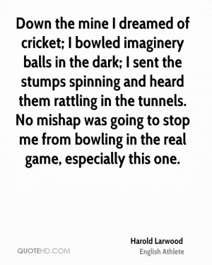 harold larwood athlete quote down the mine i dreamed of cricket i jpg