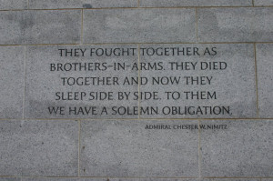WWII Memorial Quote, Washington DC