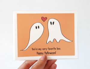 Halloween Card - You're My Very Favorite Boo - I Love You Card ...