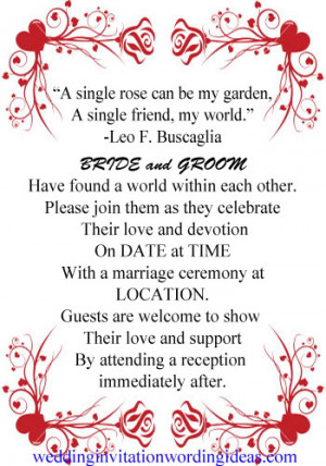 invitation rose wedding, wedding invitations rose red, wedding ...