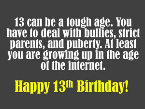 funny 13th birthday quotes