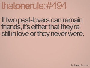 Two Past Lovers Can Remain