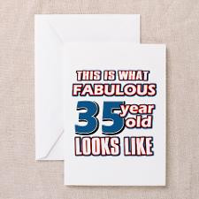 Cool 35 year old birthday designs Greeting Card for