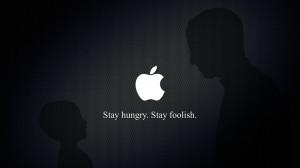 Stay Hungry Stay Footlish Steve Job Silhoutte Apple Logo HD Wallpaper