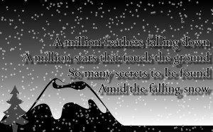 Amid The Falling Snow - Enya Song Lyric Quote in Text Image