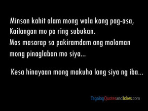 Love Quotes For Him Tagalog Twitter : Twitter Tagalog Love Quotes. QuotesGram