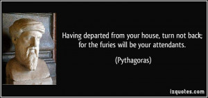 departed from your house, turn not back; for the furies will be your ...