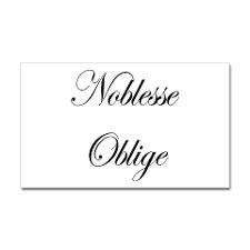 Noblesse Oblige Rectangle Sticker for