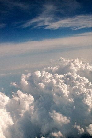blue, cloud, clouds, fly, hipster, indie, iphone wallpaper, retro, sky ...