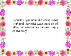 ... Keep these beliefs alive, and cherish one another. Happy Anniversary
