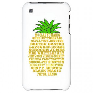 Psych Quotes Pineapple iPhone Case