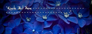 Blue Flowers Facebook Name Cover Quotes Name Covers