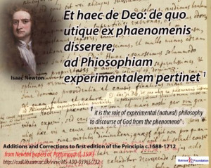 Newton added (his handwriting) in his paper (folio 359 V) of Newton ...