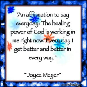 The healing power of God...