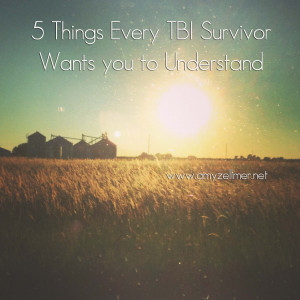 ... educate others and bring awareness to traumatic brain injuries (TBI