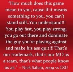 Nick Saban quote More