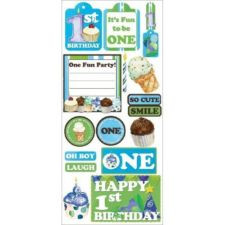 Lot Scrapbook Stickers Quotes Baby Boy First Birthday