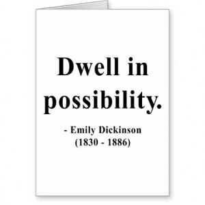 Emily Dickinson Quote 2a Cards