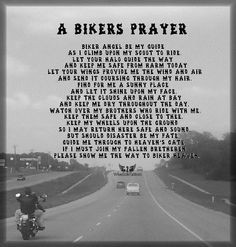 Biker's Prayer More