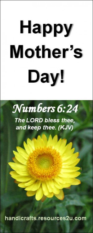 Free Christian Mother's Day Bookmark printable template