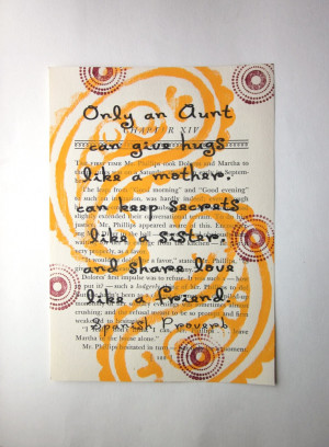 Aunt quote Spanish Proverb print on a book page, aunt saying, aunt ...