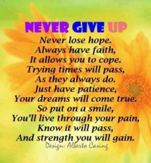 Never give up-Life with Fibromyalgia/ Chronic illness