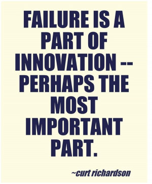 ... . Innovation is a learning process.