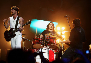 Daniel Johns and Chris Joannou Arrivals At The MTV Australia Video