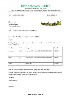 quotation letter