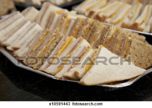 Sandwiches Platter Clipart A platter of home-made ham and