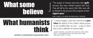 ... humanism campaign in 2010 which compared bible passages with humanist