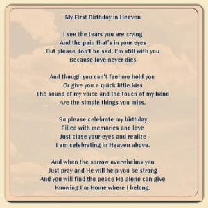 Happy Birthday Mom In Heaven Sayings **happy first birthday in