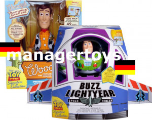 Details about Toy Story Buzz Lightyear & Sheriff Woody German ...