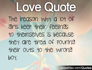 Sayings About Girls Feelings The reason why a lot of girls